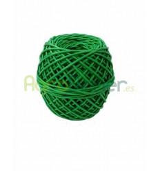 Ovillo de macarrón verde para atado 4 mm