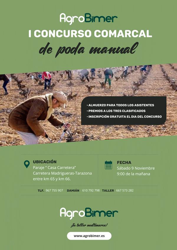 Cartel I concurso comarcal de poda manual de Agrobimer