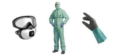 EPIs protección en pulverización